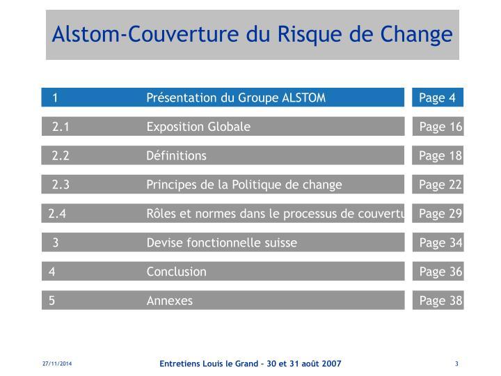 Alstom couverture du risque de change