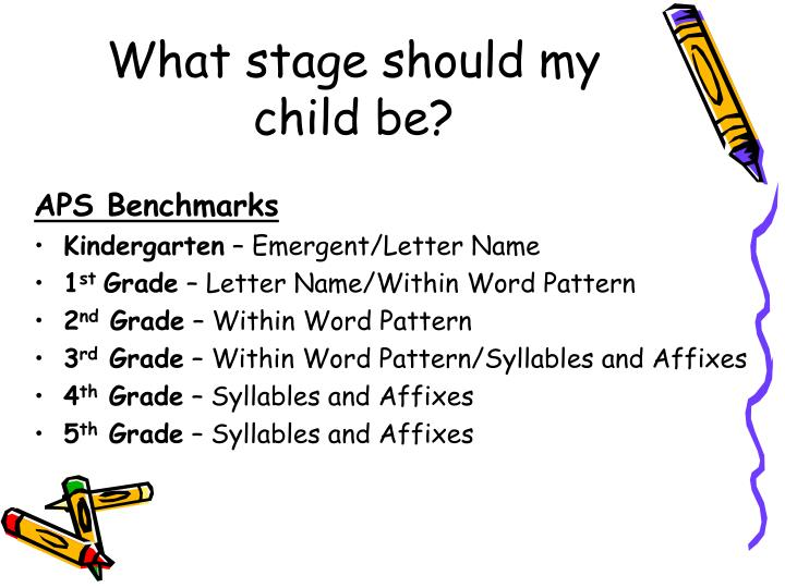 What stage should my child be