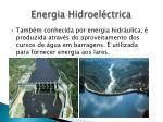 energia hidroel ctrica