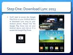 step one download lync 2013