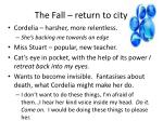 the fall return to city