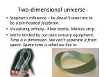 two dimensional universe