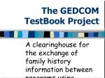 the gedcom testbook project1