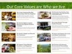 our core values are who we are