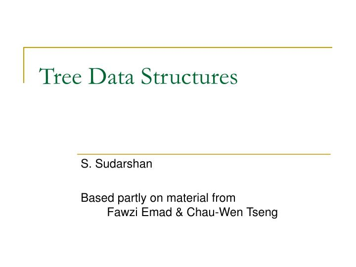 tree data structures n.