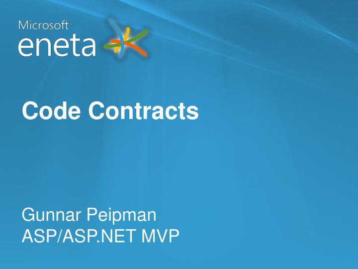 Code contracts