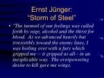 ernst j nger storm of steel