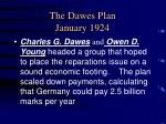 the dawes plan january 1924