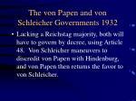 the von papen and von schleicher governments 19321