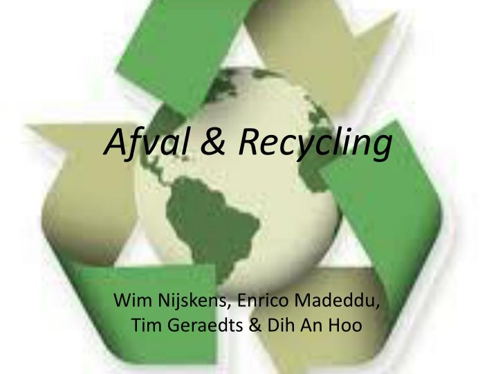 afval recycling n.