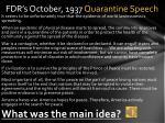fdr s october 1937 quarantine speech