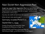 nazi soviet non aggression pact