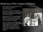 weakness of the league of nations