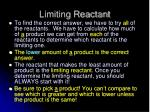 limiting reactant1
