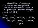 mass mass conversion