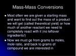 mass mass conversions
