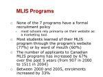 mlis programs