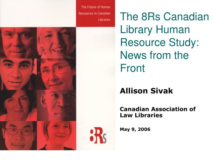 the 8rs canadian library human resource study news from the front n.