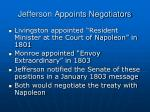 jefferson appoints negotiators