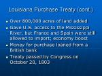 louisiana purchase treaty cont