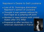 napoleon s desire to sell louisiana