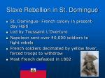 slave rebellion in st domingue