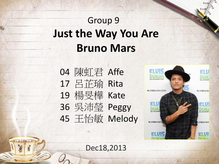 just the way y ou are bruno mars dec18 2013 n.