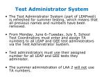test administrator system