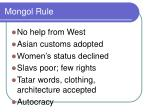 mongol rule1