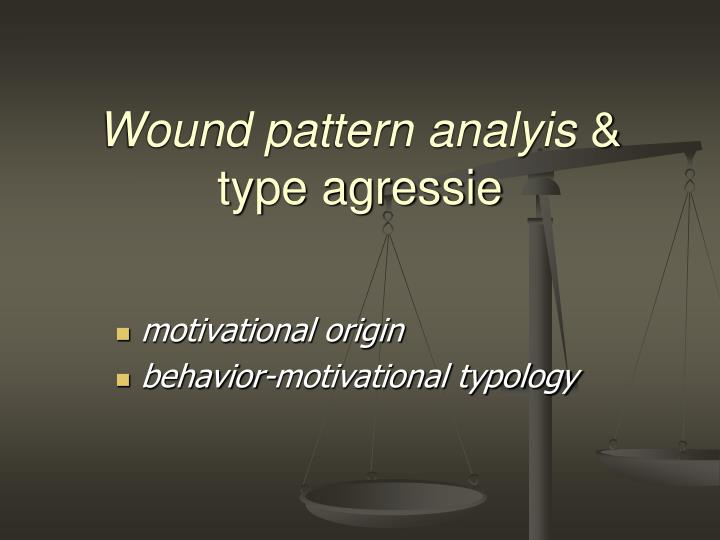 Wound pattern analyis