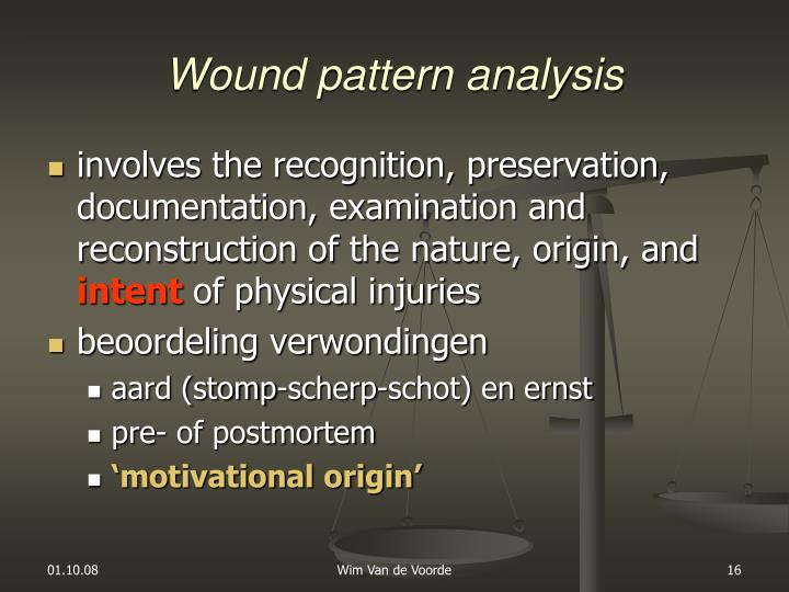 Wound pattern analysis