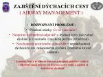 zaji t n d chac ch cest airway management