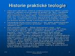 historie praktick teologie