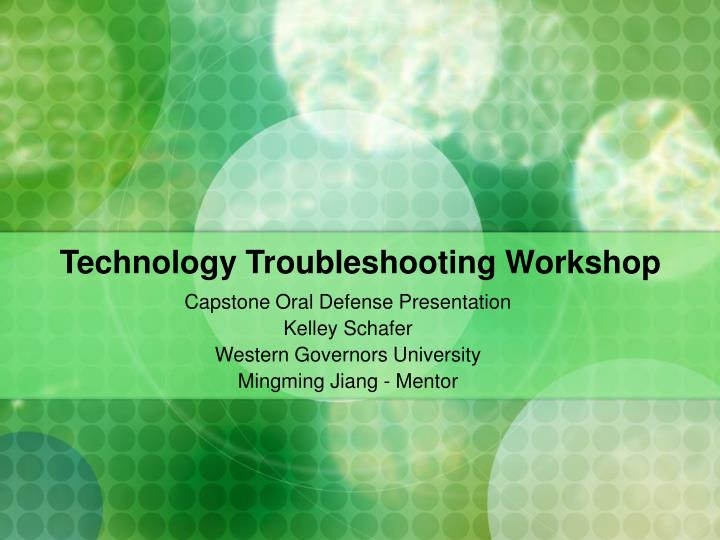 technology troubleshooting workshop n.