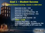 goal 1 student success