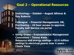 goal 2 operational resources