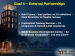 goal 4 external partnerships