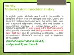 activity michelle s accommodation history1