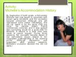 activity michelle s accommodation history2