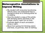 metacognative annotations to improve writing