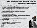 new paradigms new realities new era a informational revolution