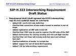 sip h 323 interworking requirement draft status