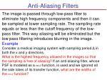 anti aliasing filters