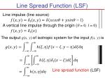 line spread function lsf