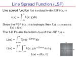line spread function lsf1
