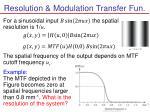 resolution modulation transfer fun
