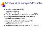 strategies to manage p2p traffic
