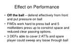 effect on performance1