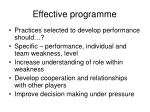 effective programme