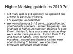 higher marking guidelines 2010 7d